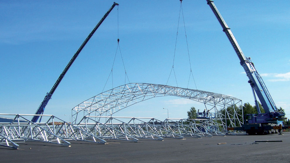 The arches are erected.